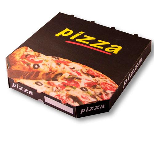 Boite pizza Black-box coin cassé