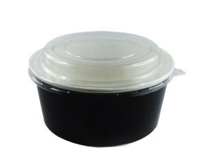 saladier noir refermable avec couvercle